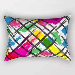 Brushed Strokes Rectangular Pillow