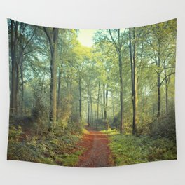 Forest Morning Walk Wall Tapestry