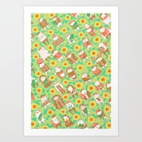 Sunflower Movement Art Print