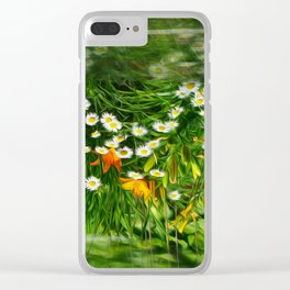 Upside Down Daisies Clear iPhone Case