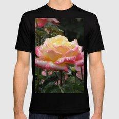 Rose in the Rain Black MEDIUM Mens Fitted Tee