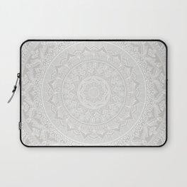 Mandala Soft Gray Laptop Sleeve