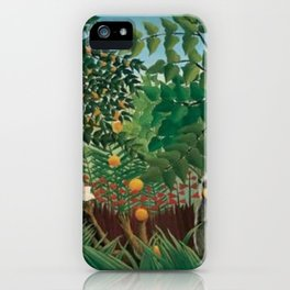 Henri Rousseau Exotic Landscape iPhone Case