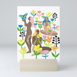 spring garden Mini Art Print