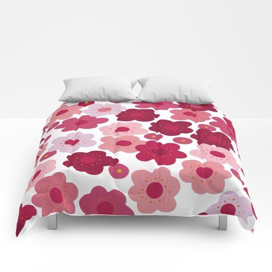 cherry blossom pop Comforters
