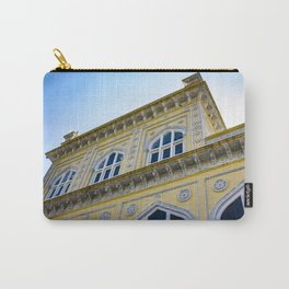 Blue Sky behind the front of the Yellow Chomahalla Palace in Hyderabad, India Carry-All Pouch