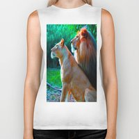 lions Biker Tanks featuring Loyal Lions by 13th Moon Social Club