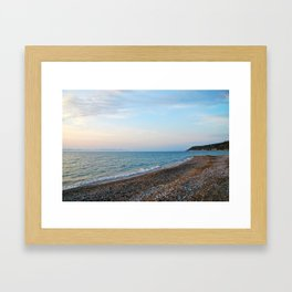 Greek Beach Framed Art Print