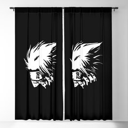 White Anime Hero Character Blackout Curtain