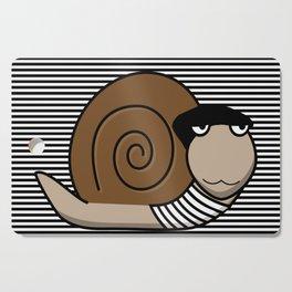 French Snail ~ Escargot Cutting Board
