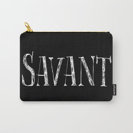 Savant - white on black version Carry-All Pouch
