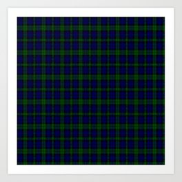 "CAMPBELL CLAN  ""BLACK WATCH"" SCOTTISH  KILTS TARTAN DESIGN Art Print"
