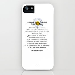 Like Baby Cradled In His Arms Poem iPhone Case