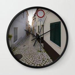 Nazare Side Street Wall Clock