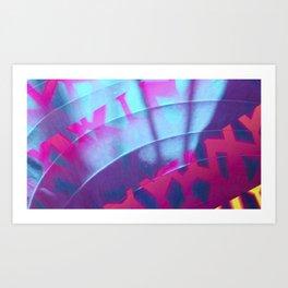 Neon Beach Art Print