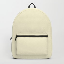 Solid Light Yellow Blonde Color Backpack