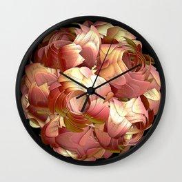 Paper Rose Wall Clock