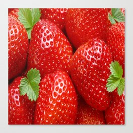strawberry fruit juice Canvas Print