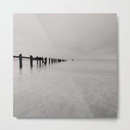 black and white untitled ocean Metal Print