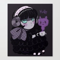 goth Canvas Prints featuring Goth Tea by Princess Misery