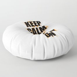 FUNNY HALLOWEEN KEEP CALM AND SCARY ON Floor Pillow