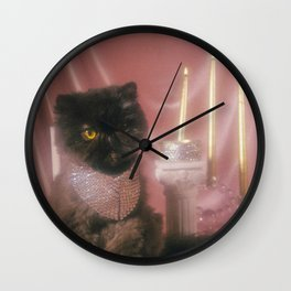 Muad'Dib Cat Portrait in Mauve Wall Clock