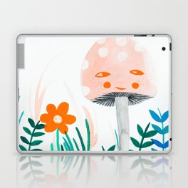 pink mushroom with floral elements Laptop & iPad Skin