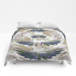 Lilies in the Round Comforters