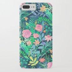 Roses + Green Messy Floral Posie iPhone 7 Plus Slim Case