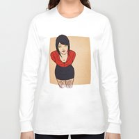 crowley Long Sleeve T-shirts featuring Good Omens: Female Crowley by Abbi Laura