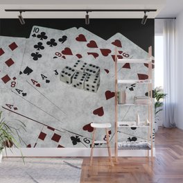 Playing Cards Dices Good Luck Wall Mural