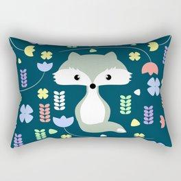 Fox among flowers Rectangular Pillow
