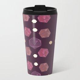 Red and Purple DnD Dice Metal Travel Mug