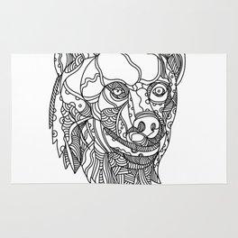 Brown Bear Head Doodle Rug