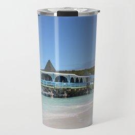 Tropical Paradise Pier on Antigua Travel Mug