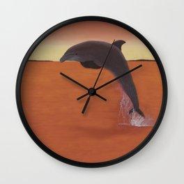 Dolphin Leap of Joy Wall Clock