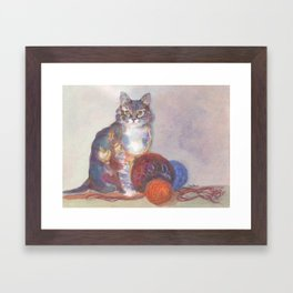 Purling Puss Framed Art Print