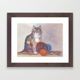 Purling Puss Framed Art Print