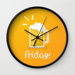 Pixel Friday Wall Clock