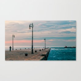 Windy day in the city of Trieste Canvas Print