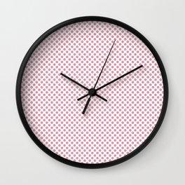 Sea Pink Polka Dots Wall Clock