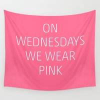 mean girls Wall Tapestries featuring Mean Girls #8 – Pink by Enyalie