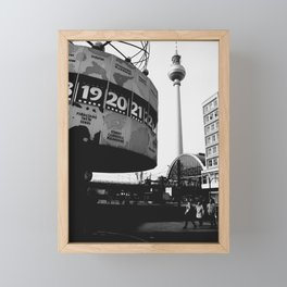 Berlin Alexanderplatz black and white photography Framed Mini Art Print