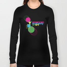 American Academy of Art Geometric Print  Long Sleeve T-shirt