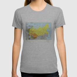 Soviet Union Administrative Divisions Map (1983) T-shirt
