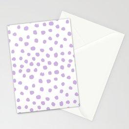 Dots painted polka dot pattern minimal lavender nursery basic minimalist Stationery Cards