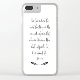 For God So Loved The World Clear iPhone Case