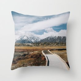 SIERRA MOUNTAINS ADVENTURE Throw Pillow