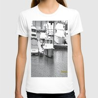 boats T-shirts featuring Boats BW by BeachStudio