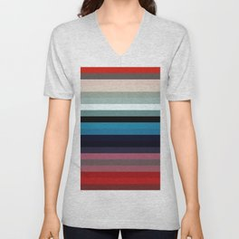 Les lignes de couleurs 03 Unisex V-Neck